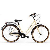 "Victoria Lady 28"" N3 size 18"" (46cm) (aluminium, cream/black, tires with brown sidewall)"