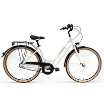 """Victoria Lady 28"""" N3 size 18"""" (46cm) (aluminium, white/black, tires with brown sidewall)"""