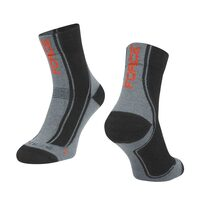 Šiltos kojinės FORCE Freeze (pilka/juoda/raudona) L-XL 42-47