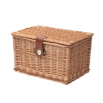 Wicker basket with a lid BONIN 37x26x23cm (without holder)