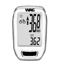 Wireless bike computer Wag 9 functions (white)
