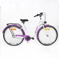 "Zeger Eco City 28"" N3 size 19"" (48cm) (steel, white/pink/purple)"