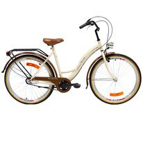 "Zeger West Bike 26"" N3 dydis 19"" (48 cm) (kreminė/ruda)"