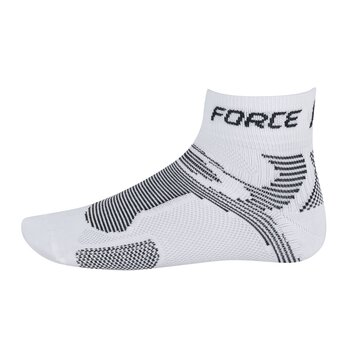 Kojinės trumpos FORCE 2 (balta/juoda) dydis 36-41 S-M