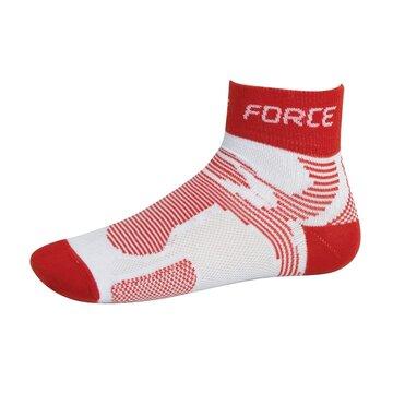 Kojinės trumpos FORCE 2 (balta/raudona) dydis 36-41 S-M