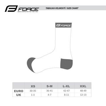 Kojinės FORCE CYCLE (baltos) L-XL/42-46