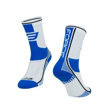 Kojinės FORCE Long Plus (mėlyna/juoda/balta) 36-41 S-M