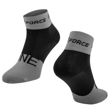 Kojinės FORCE One (pilka/juoda) L-XL 42-47