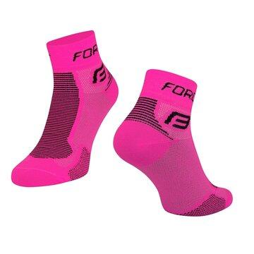 Kojinės trumpos FORCE (rožinė/juoda) dydis 36-41 (S-M)
