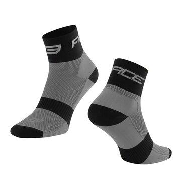 Kojinės trumpos FORCE Sport (juoda/pilka) 36-41 (S-M)