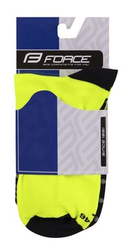 Kojinės FORCE SPOT (juoda/fluorescencinė) L-XL/42-46