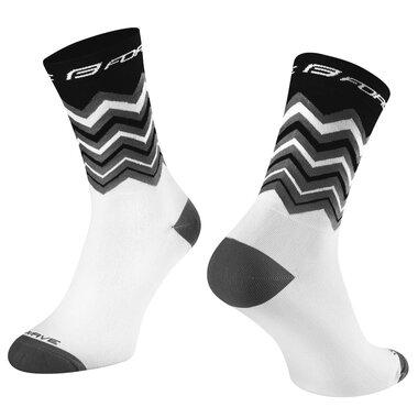 Kojinės FORCE Wave, (juoda/balta) L-XL 42-46