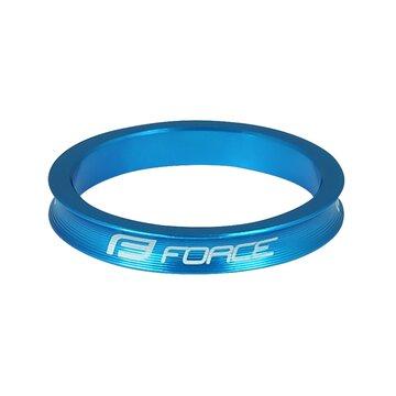 """Vairo kolonėlės žiedas FORCE 1 1/8"""" 5mm (aliuminis, mėlynas)"""