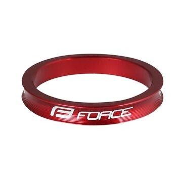 """Vairo kolonėlės žiedas FORCE 1 1/8"""" 5mm (aliuminis, raudonas)"""