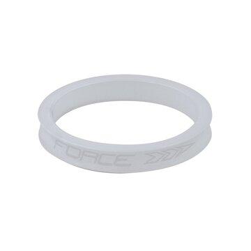 """Vairo kolonėlės žiedas FORCE 1 1/8"""" 5mm (aliuminis, baltas)"""