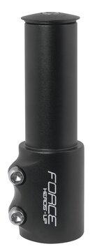 Vairo iškyšos paaukštinimas FORCE +6,5cm  1 1/8 (aliuminis, juodas)