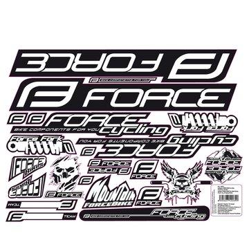 Lipdukai dviračiui FORCE Mad 37x27cm juodi