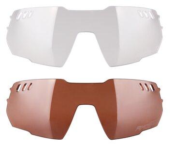 Akiniai FORCE Amoledo polikarbonato lęšiai UV 400 (raudona)