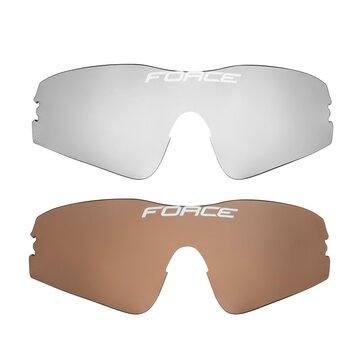 Akiniai FORCE Flash UV 400 (juoda/raudona)