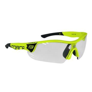Akiniai FORCE Race Pro fotochrominiai lęšiai UV400 (juoda/fluorescentinė)