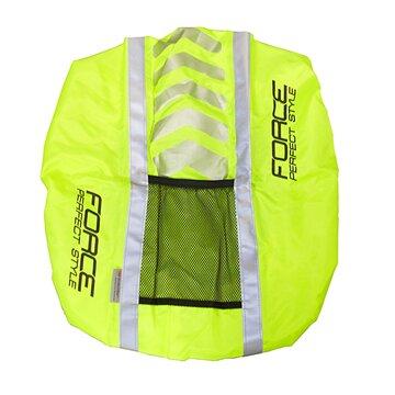 Šviesą atspindintis kuprinės užvalkalas su kišenėle FORCE PRO 42x28cm (poliesteris)