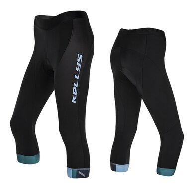 Kelnės 3/4 KLS Maddie moteriškos, su paminkštinimu (juoda/mėlyna) S