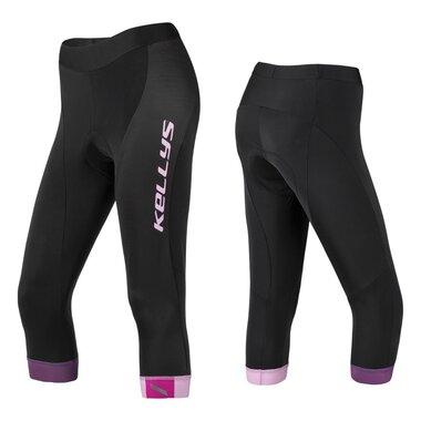 Kelnės 3/4 KLS Maddie moteriškos, su paminkštinimu (juoda/rožinė) M