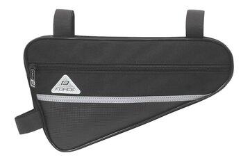 Trikampis rėmo krepšys FORCE Long Eco 1,3l  (juodas)