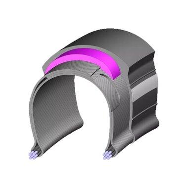 Padanga MITAS Flash 28x1.75 (47-622) V66 apsauga nuo pradurimo, atspindinti juosta