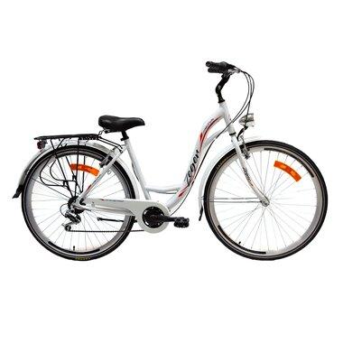 "Zeger Comfort Bike 28"" 6G dydis 18,5"" (47 cm) (balta/raudona/juoda)"